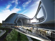 Shaped in a ribbon-like form, this proposal for the new Linkong SOHO building is favorably located within the Great Hongqiao Business Zone in China. The retail and business complex is the second building designed by Zaha Hadid for the largest property developers in Shanghai, SOHO China.  Defined by its calligraphic gesture and distinctive metallic envelope, the mixed-use building features four twisting and elongated volumes, each representing a distinct cluster of activities. Intimate…