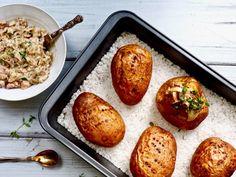 Baked Potato, Side Dishes, Food And Drink, Potatoes, Baking, Ethnic Recipes, Potato, Bakken, Backen