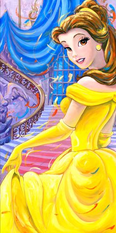 Disney Beauty and the Beast giclee limited edition signed canvas art print Walt Disney, Fera Disney, Disney Films, Disney And Dreamworks, Disney Magic, Disney Art, Disney Pixar, Disney Characters, Disney Princesses