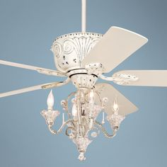 pull chain crystal bead candelabra ceiling fan light kit | fan
