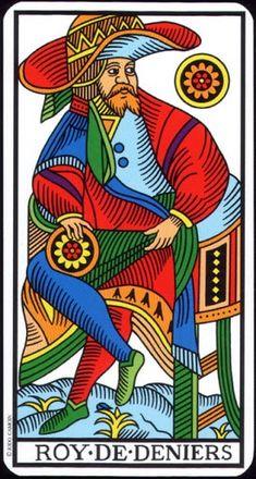 Ít biết Lá King of Pentacles - Tarot of Marseilles bài tarot
