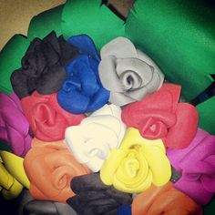 Ramo de rosas goma eva