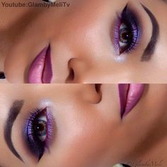 Glamorous purple make up look