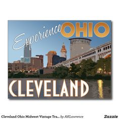 Cleveland Ohio Midwest Vintage Travel Poster Postcard - $1.00