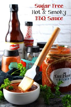 Sugar Free Hot and Smoky Barbeque Sauce - A good barbeque sauce needs to be smoky, it needs to be hot and spicy, it needs to be thick, and have a deep, rich red colour. My homemade barbeque sauce is all of that and more; it's also sugar free! Lord Byron, Grilled Sausage, Grilled Meat, Best Dinner Recipes, Top Recipes, Delicious Recipes, World's Best Food, Good Food, Homemade Barbeque Sauce
