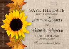 DIY Printable Fall Wedding Save The Date With by iDesignStationery