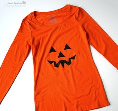 DIY Halloween Tshirt with Silhouette @savedbyloves
