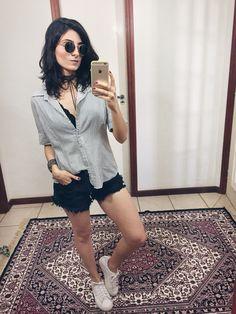 Camisa e shorts/ @aliciasampaio