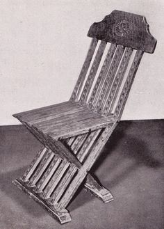 Chair, late 15th century, good to have a backrest