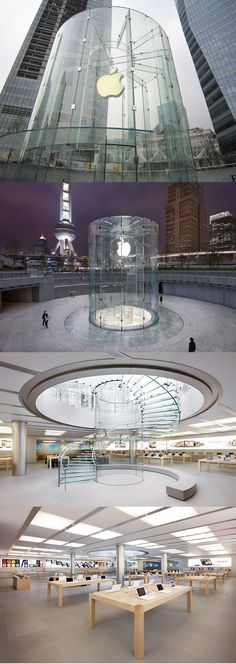 Apple Store by Bohlin Cywinski Jackson Architects, Shanghai.