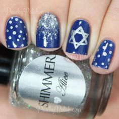 Happy Hanukkah Nail Art | Peachy Polish