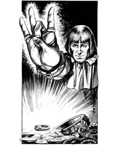Rock on, and detect magic. (Jeff Easley from Mentzer's Basic D&D Players Manual, TSR, 1983.)