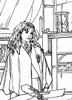harry potter coloring page - Print Colouring Sheets