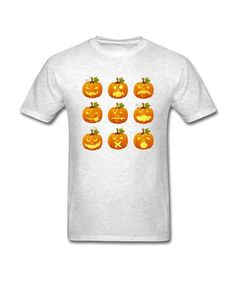 Light oxford Halloween Pumpkin Smiles fashioable Ontwerp Men's T-shirt