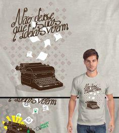 Estampa 'Não deixe que suas ideias voem' no Camiseteria.com. Autoria de Henrique Mantovani Petrus. Votem! http://cami.st/d/52936