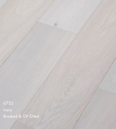 White stained oak flooring