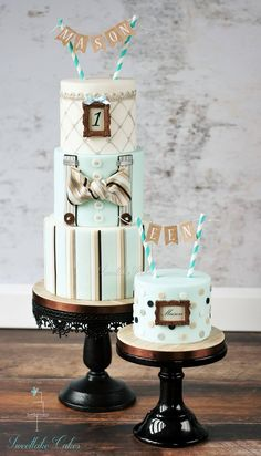 dapper first birthday cake
