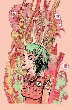 Illustrations | JimMahfood.com: Visual Funk Art Destruction from artist Jim Mahfood aka Food One