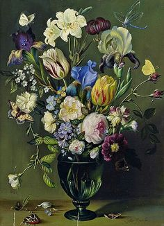 After Balthasar van der Ast  Still Life with Tulips, Lilies and Roses  19th century