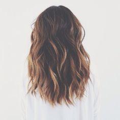 hair goals: shoulder length wavy hair