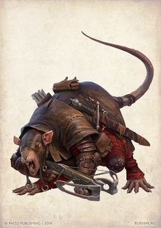 DMITRY BURMAK@burmakRussian Federation Ratfolk for Paizo Pathfinder