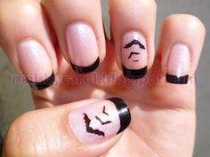 Diy Nails Nail Art Challenge Bats