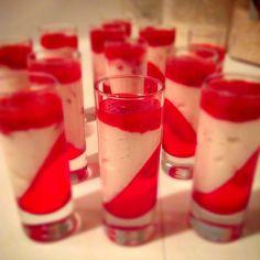 Strawberry cheesecake shot glass dessert by dewi1205, via Flickr