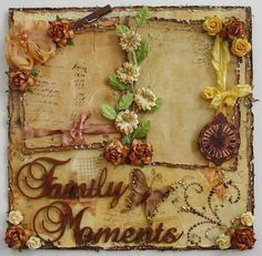 ELITE4U Donna Premade 12x12 Layout Page Album Distressed Shabby Family Moments   eBay