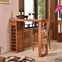 Mini Bars, Bar Top Tables, Barra Bar, Modern Home Bar, Wine Rack Storage, Home Bar Furniture, Cafe Interior Design, Wine Table, Pallet Designs
