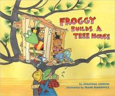 """Read """"Froggy Builds a Tree House"""" by Jonathan London available from Rakuten Kobo. Froggy and his friends are building a treehouse-with a lot of help from Dad. Their plans don't include Frogilina though,. Building A Treehouse, Community Helpers, Kids Story Books, Penguin Random House, Yoga For Kids, Read Aloud, Used Books, Story Time, Book Activities"""