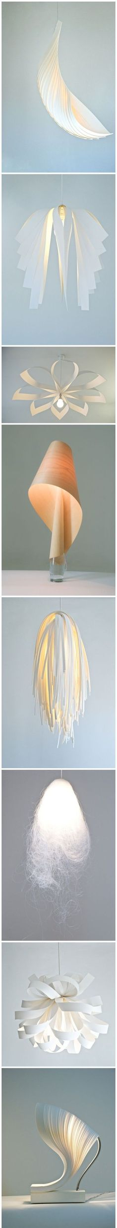♥ Amazed by the beauty of these limited edition paper lamp, designed by 7gods