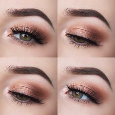 Hottest Eye Makeup Trends for 2018 - Smokey Peach Eyes - It's Time To Check Out What Eyeliner And Make Up Products Are Going To Be Trending For 2018. We Cover Eyeshadows For Different Size Eyes And Faces And Eyeliner That Will Make Those Brown Or Blue Eyes Pop. Pair These Hot Eye Makeup Trends With Dark Lips Using Sexy Lipsticks And The Right Brows And You Are Going To Be Looking Fabulous For 2018. Try The Winged Liner or the Cut Crease Or Keep It Simple And Natural. 2018 Is Yours…