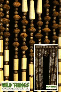 Doorcut Wooden Door Beaded Curtains, Beaded Curtain You Can Walk Through, Beaded  Curtain With