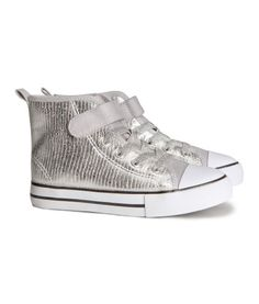 Silver basketball shoes