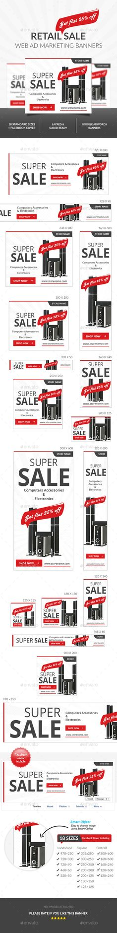 Retail Sale Ad Banners Template PSD | Download: http://graphicriver.net/item/retail-sale-ad-banners-/10159717?ref=ksioks