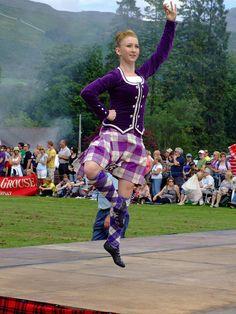 Kilt with purple jacket #cunningham #purple #tartan