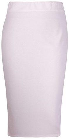 38553d5d70f8f PurpleHanger Womens Plus Size Back Split Pencil Midi Skirt Cream 2022      Read more