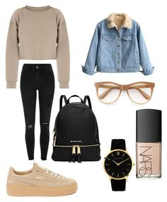 """""""Untitled #13"""" by ersilialupis on Polyvore featuring River Island, My Mum Made It, Puma, Wildfox and NARS Cosmetics"""