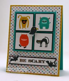 "By Ann Schach from ""The Stampin' Schach"", Stampin' Up! ""Freaky Friends"" stamp set ..."