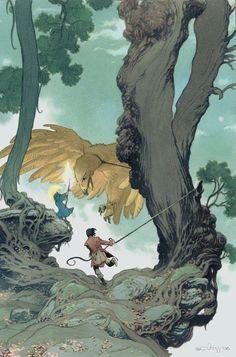 Charles Vess illustration for Neil Gaiman's Stardust, 2006