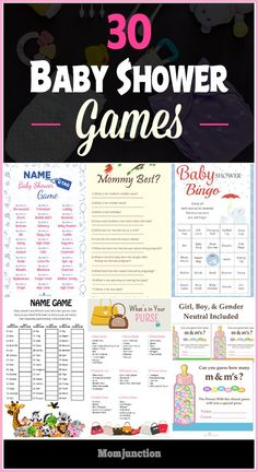 Are you organizing a baby shower? In search of exciting baby shower games for the mom-to-be or guests? These ideas will help you to make the occasion joyful. 30 Best Baby Shower Games and Activities You Would Enjoy Fiesta Baby Shower, Fun Baby Shower Games, Baby Games, Baby Shower Parties, Baby Shower Themes, Shower Ideas, Baby Showers, Planning A Baby Shower, Bany Shower Games