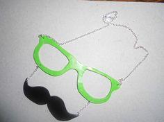 Pour le photobooth des Lunettse/Moustache Dali fait main en pâte fimo