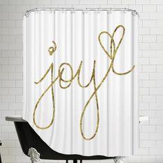 """Found it at AllModern - """"Joy"""" Shower Curtain"""