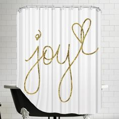 "Found it at AllModern - ""Joy"" Shower Curtain"