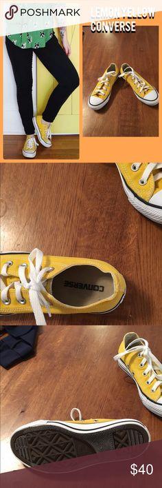 Lemon Yellow Chuck Taylor's Like new! Lemon Yellow Chucks. Size 6. Converse Shoes Athletic Shoes