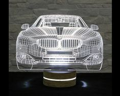 3D LED Lamp, Car Shape, Decorative Lamp, Art Light, Home Decor, Table Lamp, Office Decor, Plexiglass Art, Art Deco Lamp, Acrylic Night Light by ArtisticLamps