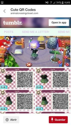 [orginial_title] – Animal Crossing New Leaf The pattern is called Charlie … my name is Charlie!, The pattern is called Charlie … my name is Charlie! Animal Crossing 3ds, Animal Crossing Qr Codes Clothes, Animal Crossing Pocket Camp, Baby Outfits, Baby Animals, Cute Animals, Ac New Leaf, Motifs Animal, Gatos Cats
