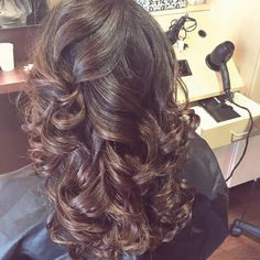 Add volume with big bouncy curls! #regencybeauty #hair