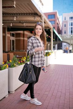 How to Style an Oversized Plaid Shirt