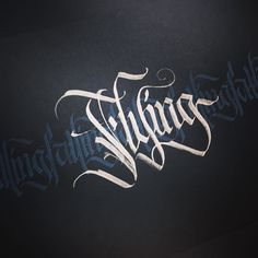 Falling / Flying  #makedaily #calligraphy #calligraffiti #calligritype #typographyinspired #blackletter #inking #ink #Fraktur #lettering #automaticpen #handstyles #thedailytype #caligrafia #graffiti #showusyourtype #graphicdesign #goodtype #typedaily #typespire #handmadefont #art